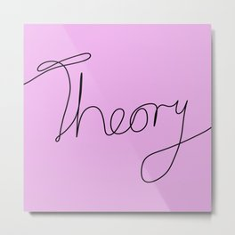 String Theory - Playful, pun, humorous, physics joke, black and pink Metal Print