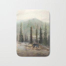 Mountain Black Bear Bath Mat