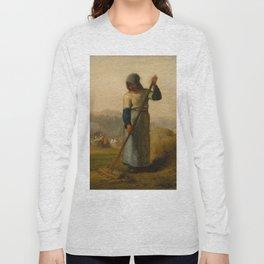 "Jean-François Millet ""Woman with a Rake"" Long Sleeve T-shirt"