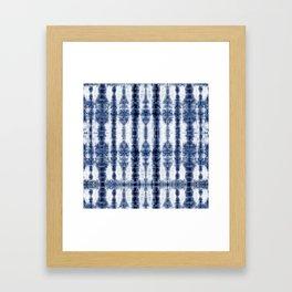 Tiki Shibori Blue Framed Art Print
