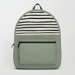 Sage Green x Stripes Backpack