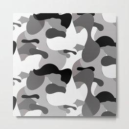 Camo-licious Collection: Dirty Martini Gray Camo Pattern Metal Print