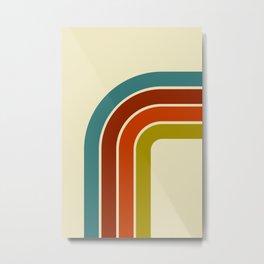 Retro 70s Color Palette Metal Print