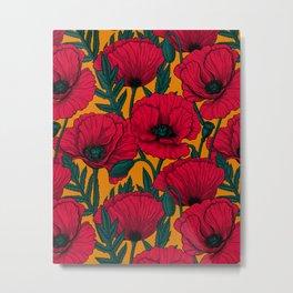 Red poppy garden    Metal Print