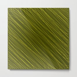 Vintage ornament of their golden threads and repetitive intersecting fibers. Metal Print