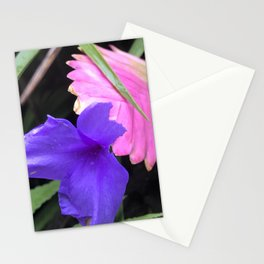 Tropical Island-Style Poetic Flowers of Elegance Stationery Cards
