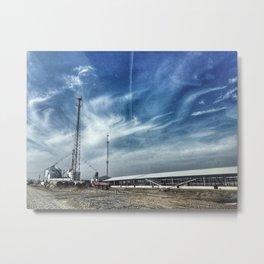 Working Cattle Farm Metal Print