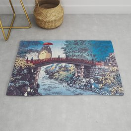 My neighbour Toto vintage japanese mashup Rug