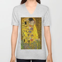 The Lovers Kiss After Klimt Unisex V-Neck