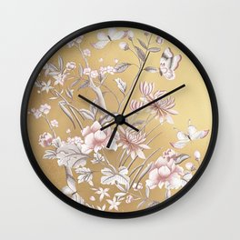 Chinoiserie Gold Wall Clock