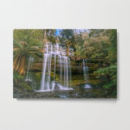 Russell Falls, Mount Field National Park, Tasmania, Australia Metal Print