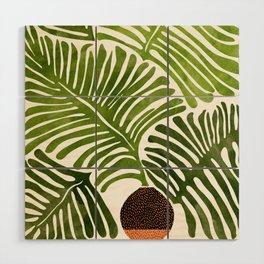 Summer Fern / Simple Modern Watercolor Wood Wall Art
