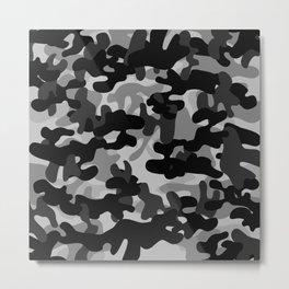 Camouflage (Gray) Metal Print