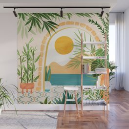 Villa View Tropical Landscape / Villa Series Wall Mural