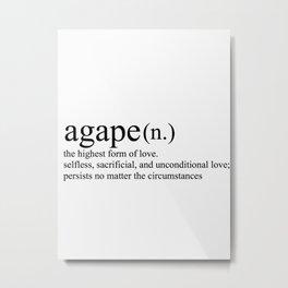 Agape Love Metal Print