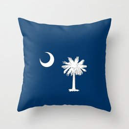 South Carolina State Flag Patriotic Design Throw Pillow