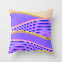 Happy Times - Lavender Hills Throw Pillow