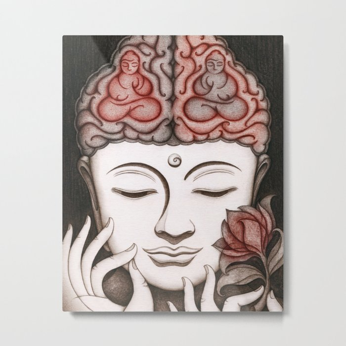 How meditation changes your brain... and makes you wiser? Metal Print