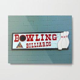 bowling n billiards  Metal Print