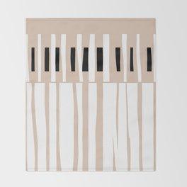 Organic Minimalism Tan   Lines 4 Throw Blanket