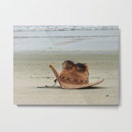 Chill at beach! Metal Print