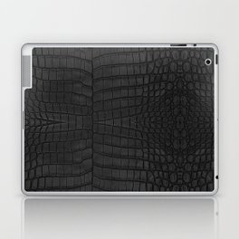 Black Crocodile Leather Print Laptop & iPad Skin