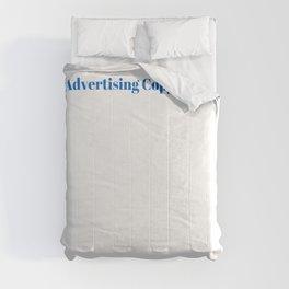 Advertising Copywriter Ninja in Action Comforters