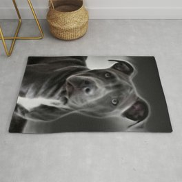 Pit Bull lover, a portrait of a beautiful Blue Nose Pit Bull Rug