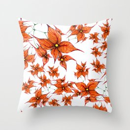 Autumn Bloom Throw Pillow
