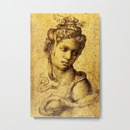 Cleopatra -Michelangelo Buonarroti Metal Print