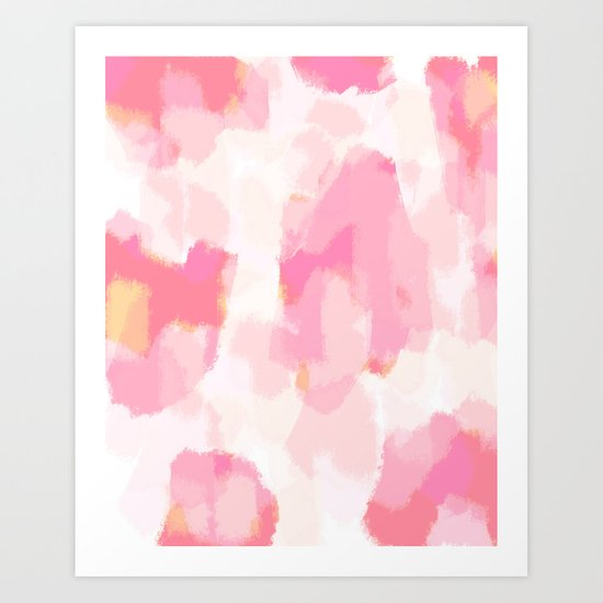 Adonia - blush pink abstract art by allyjcat