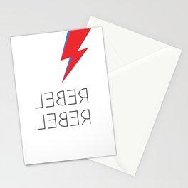 David Rebel Rebel Rock Music Aladdin Sane Bolt Glam Rock Music Stationery Cards