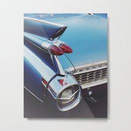 Blue Caddy Metal Print