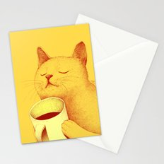 Coffe cat Stationery Cards