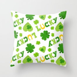 St. Patrick's Day EXTRA IRISH LUCK! Throw Pillow