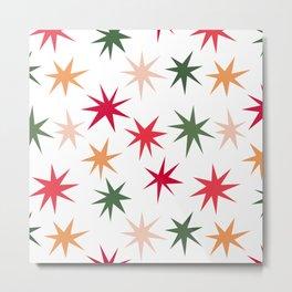 Colourful Sparkles - White Metal Print