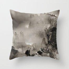 Vivid Retro - Return to Dante's Inferno 3 Throw Pillow