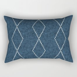 geometric diamonds - denim blue Rectangular Pillow