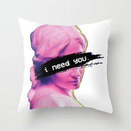 Statue Aesthetic Throw Pillow