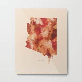 Arizona Watercolor State Metal Print