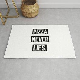 PIZZA NEVER LIES Rug