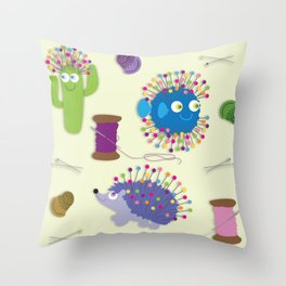 Sew Happy Throw Pillow
