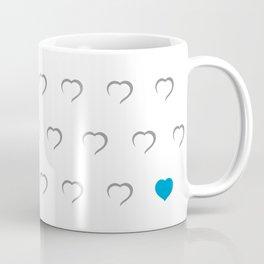 Hearts - Blue Coffee Mug