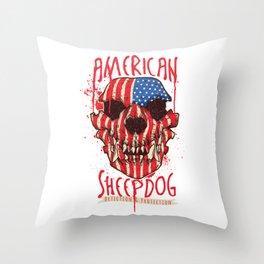 American Sheepdog Throw Pillow