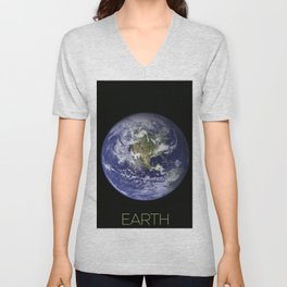 NASA-planet-asteroid poster Unisex V-Neck