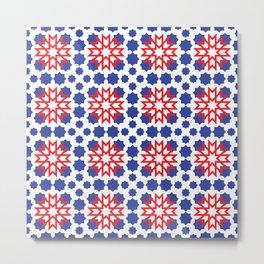 Geometric Pattern - Oriental Design Metal Print