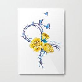 Ribbon | Endometriosis awareness Metal Print