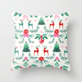 Scandinavian Christmas Throw Pillow