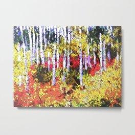 Title: Glorious Colors - digital Silk Screen Metal Print