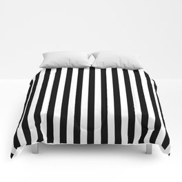 Stripe Black And White Vertical Line Bold Minimalism Stripes Lines Comforters